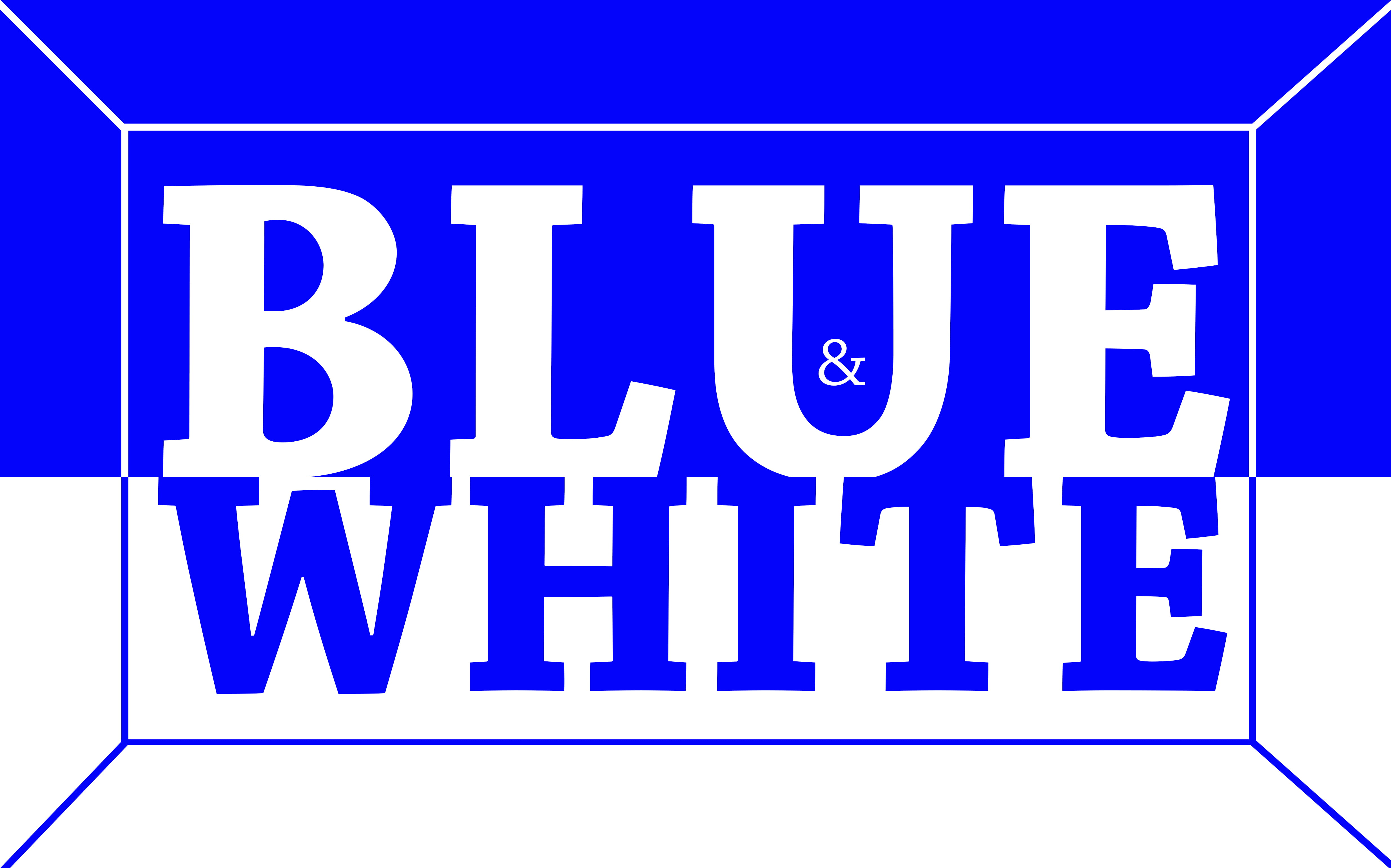 Blue and white design