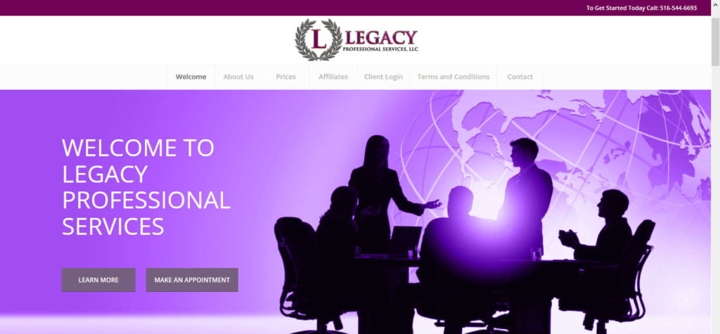 legacyprofessionalservicesllc website