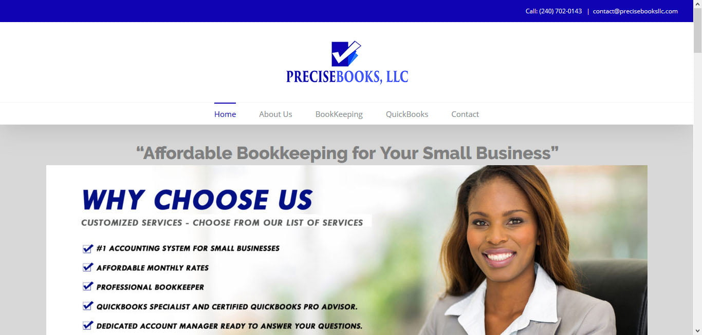 precisebooksllc website