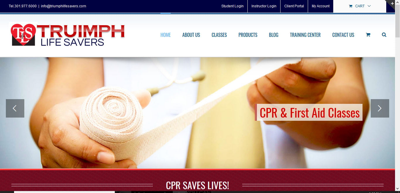 cpr.triumphlifesavers website