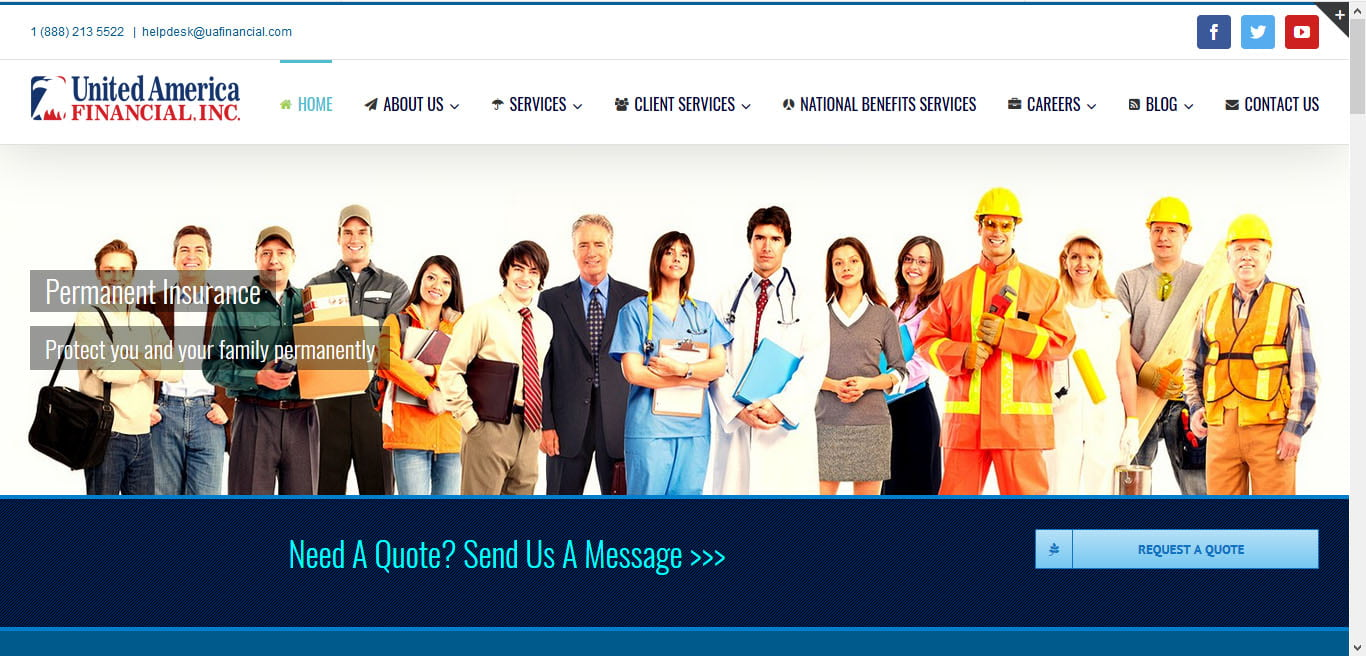 United America Financial Website