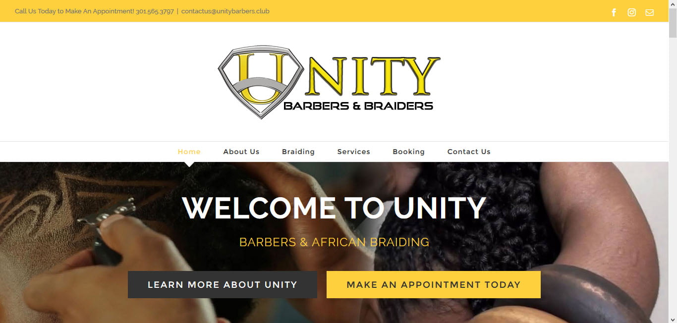 unitybarbers website