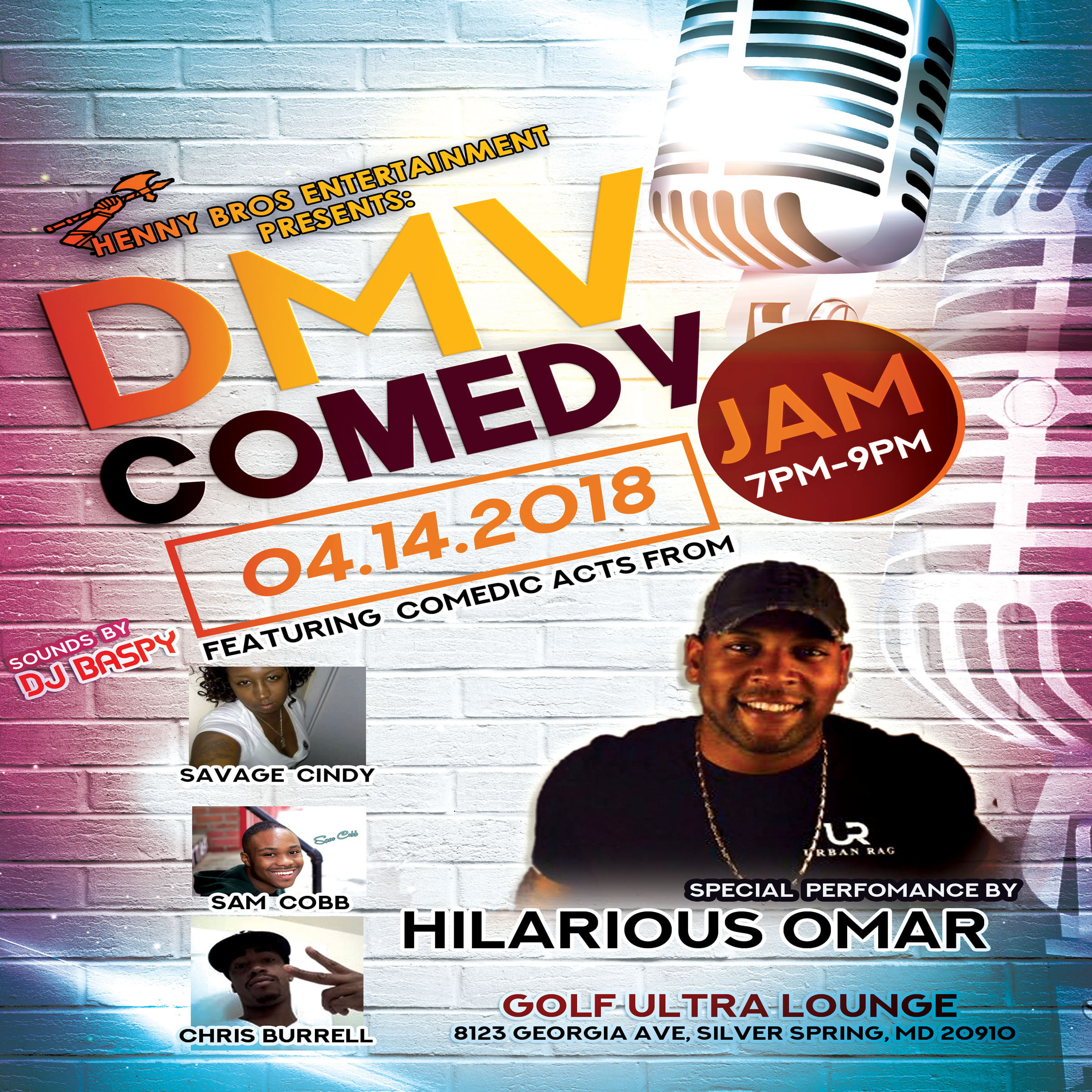 Comedy Flyer Design