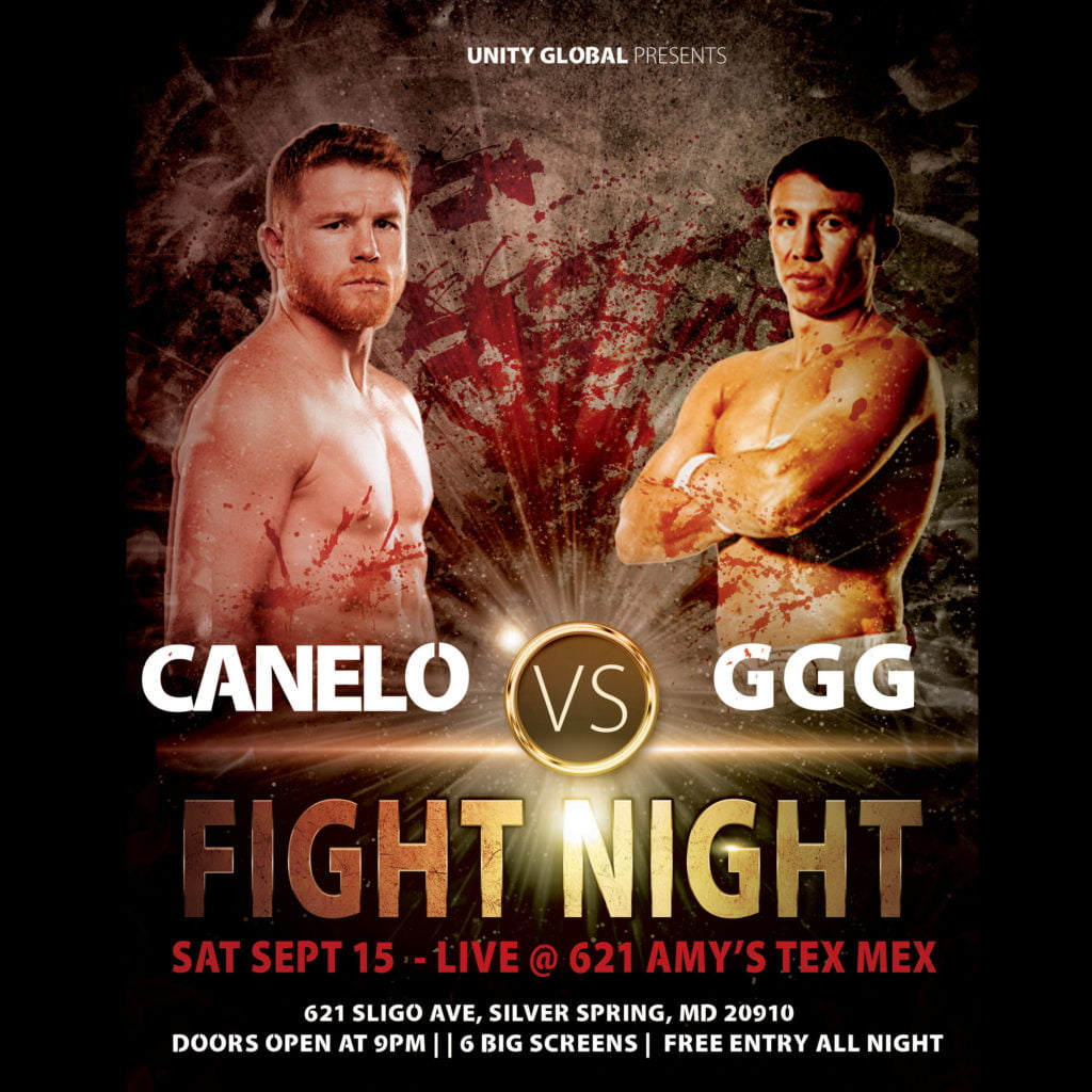 Canelo vs GGG2 Boxing Design